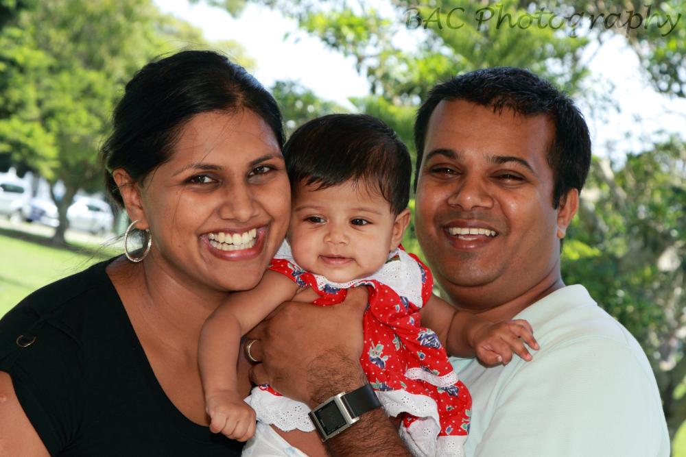 Family portrait at the park