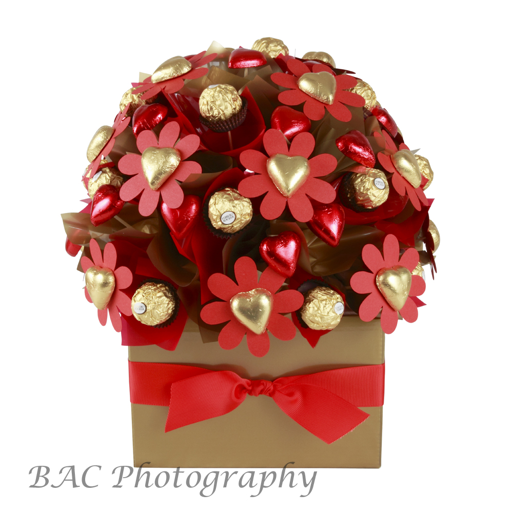 Flowers and Chocolates Product Photography