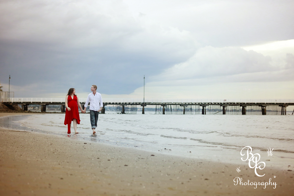 Shorncliffe Beach Maternity Portrait