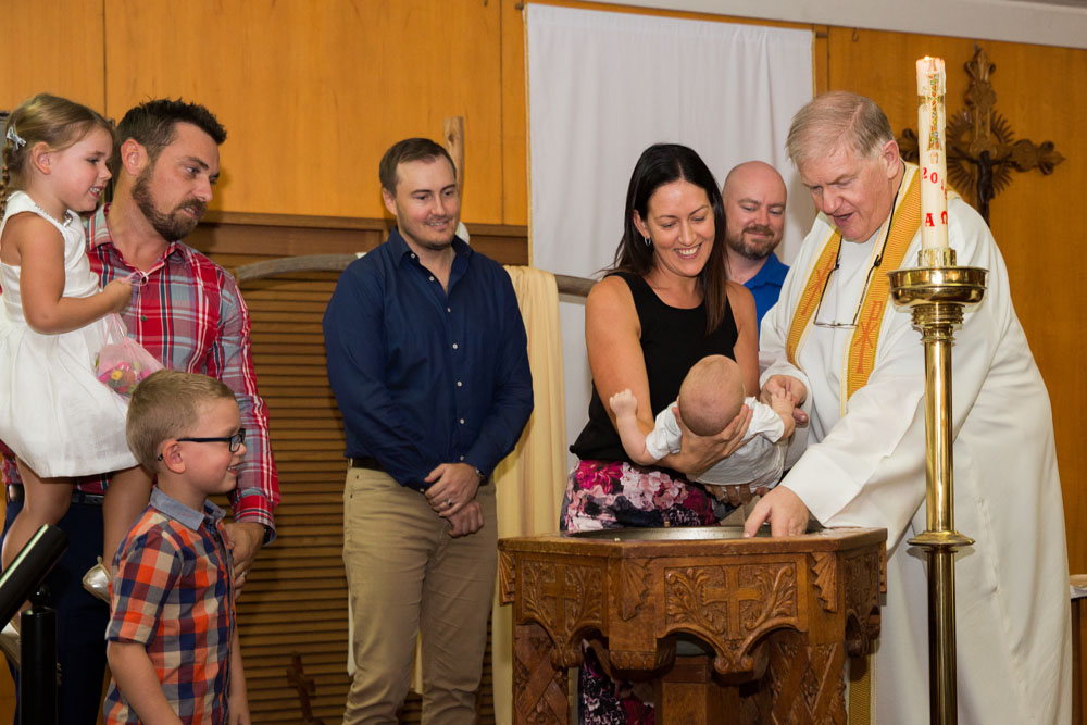 With the priest Christening Event Photography