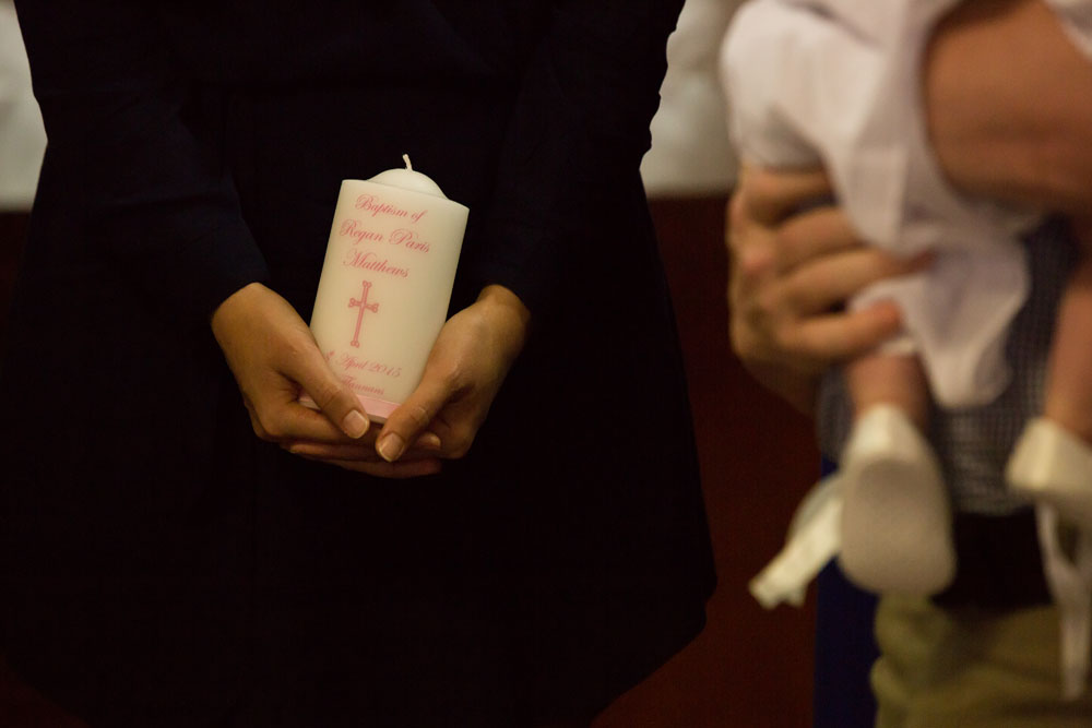 Christening Event Photography candle
