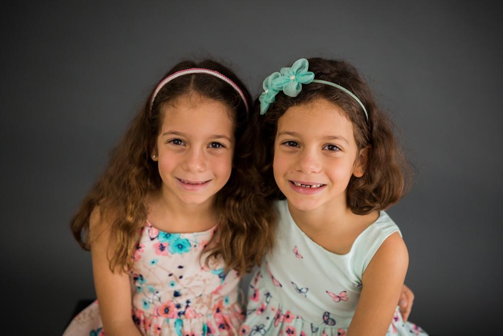 Twin Girls Studio Portraits