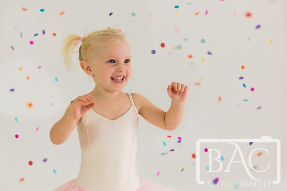 Little Ballerina confetti portraits Brisbane