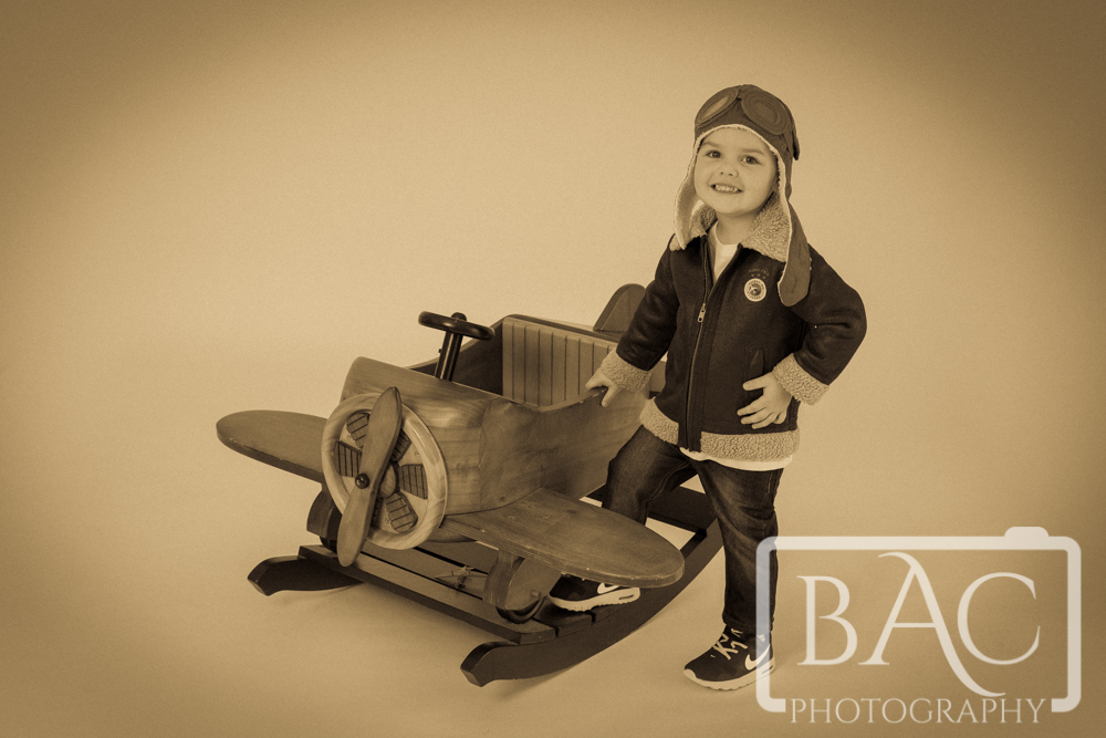 Little Aviator Brisbane Children's Portrait