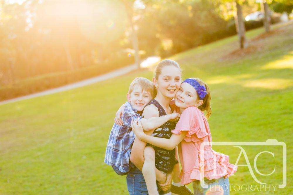 Sibling love outdoor portrait