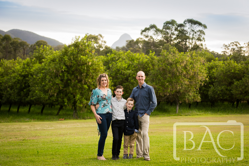 Family Portrait on a macadamia farm, Beerwah