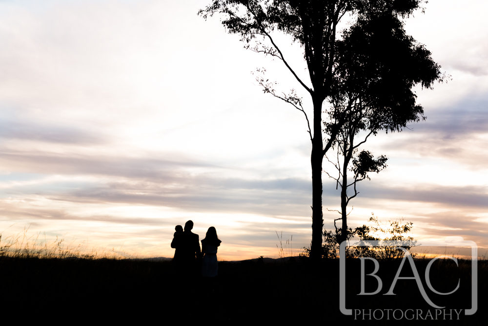 Family Portrait Silhouette in North Lakes