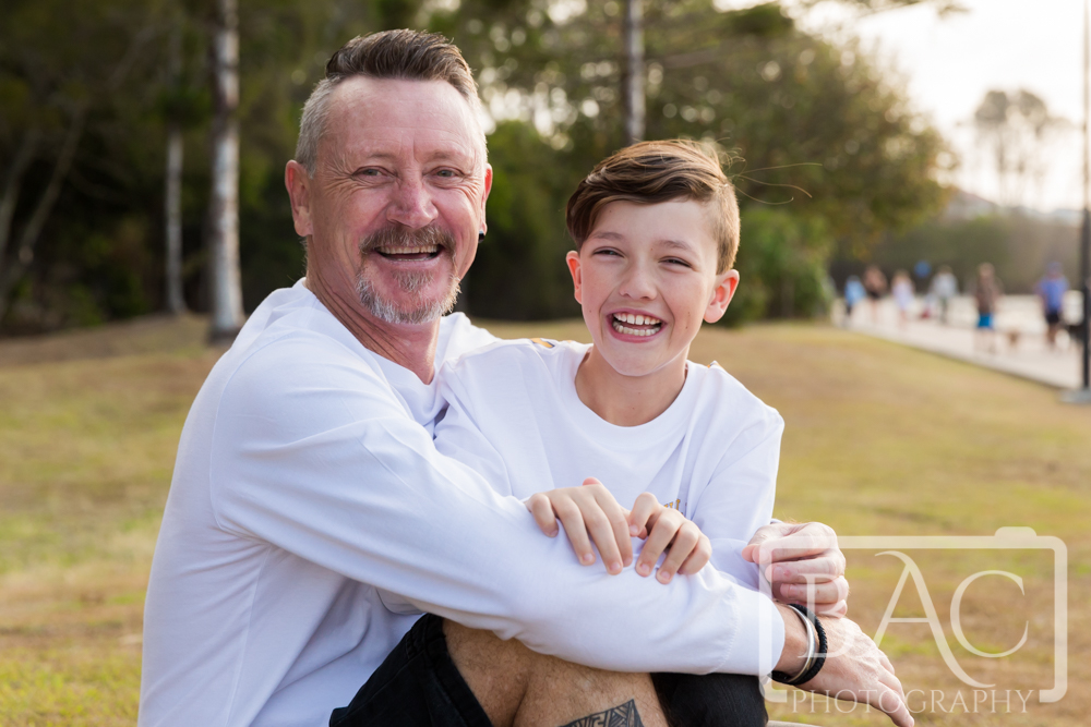 happy father and son portrait