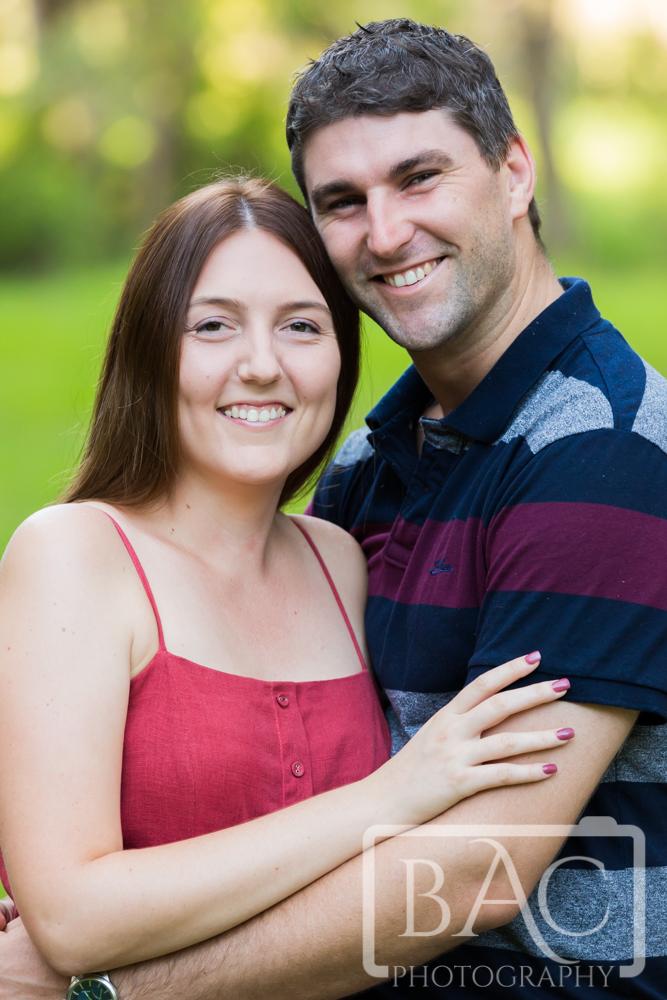 Close up couples portrait
