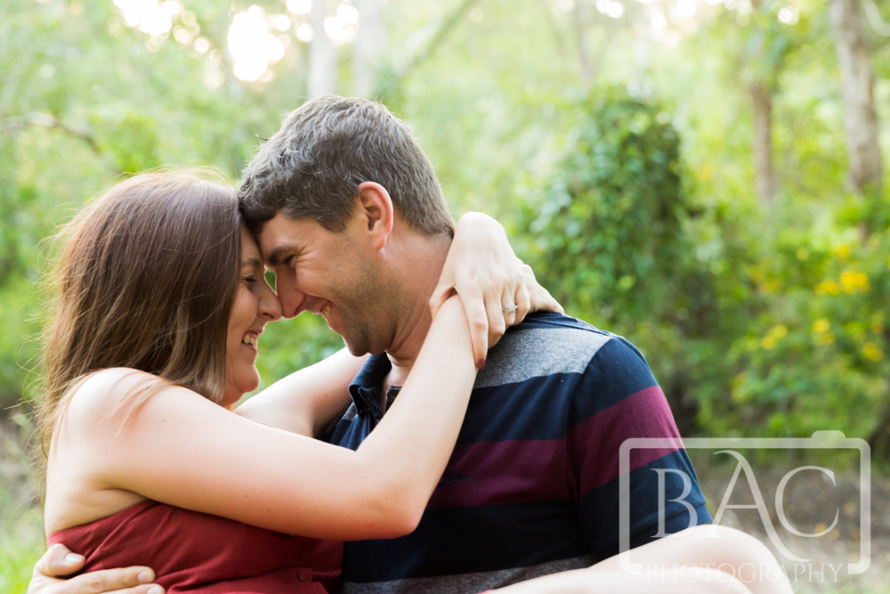 Romantic couples portrait with head together