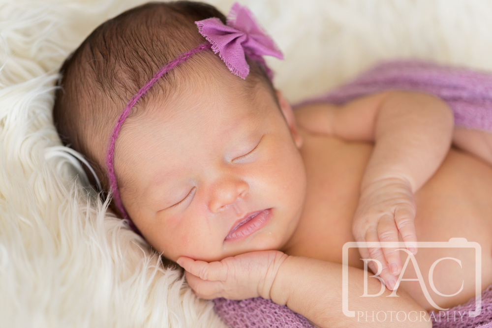 Newborn portrait 10day old girl
