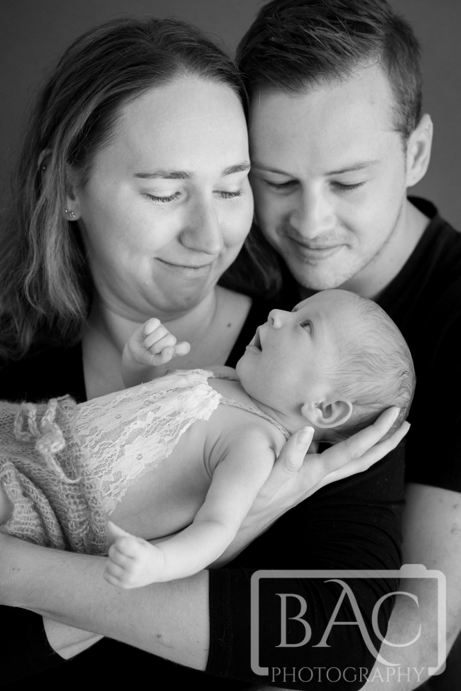 Newborn Family Portrait with baby girl