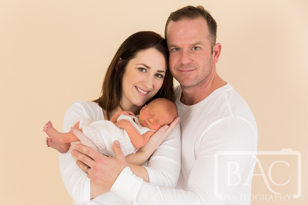 Newborn portrait with parents