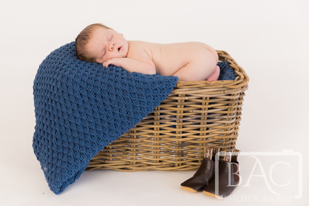 Newborn baby boy portrait in our north lakes studio