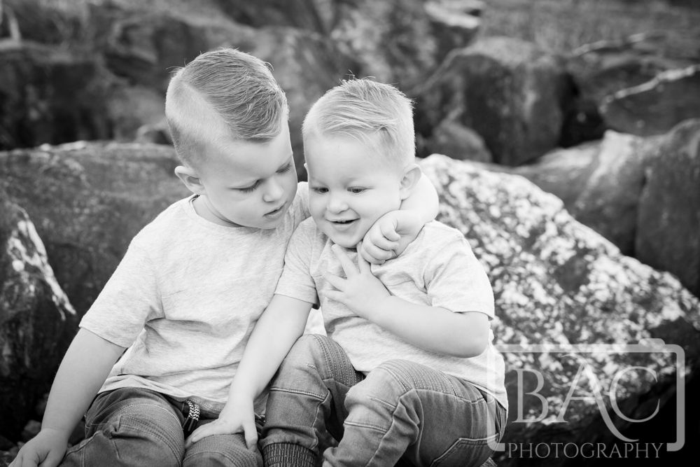 Brotherly hug portrait