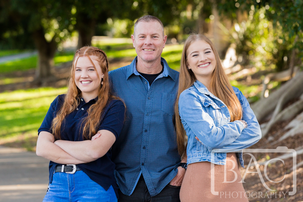 Portrait of Dad with his 2 daughters