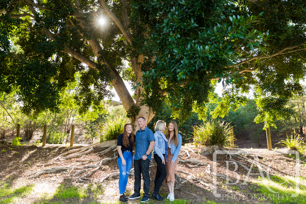 family of four outdoor portrait