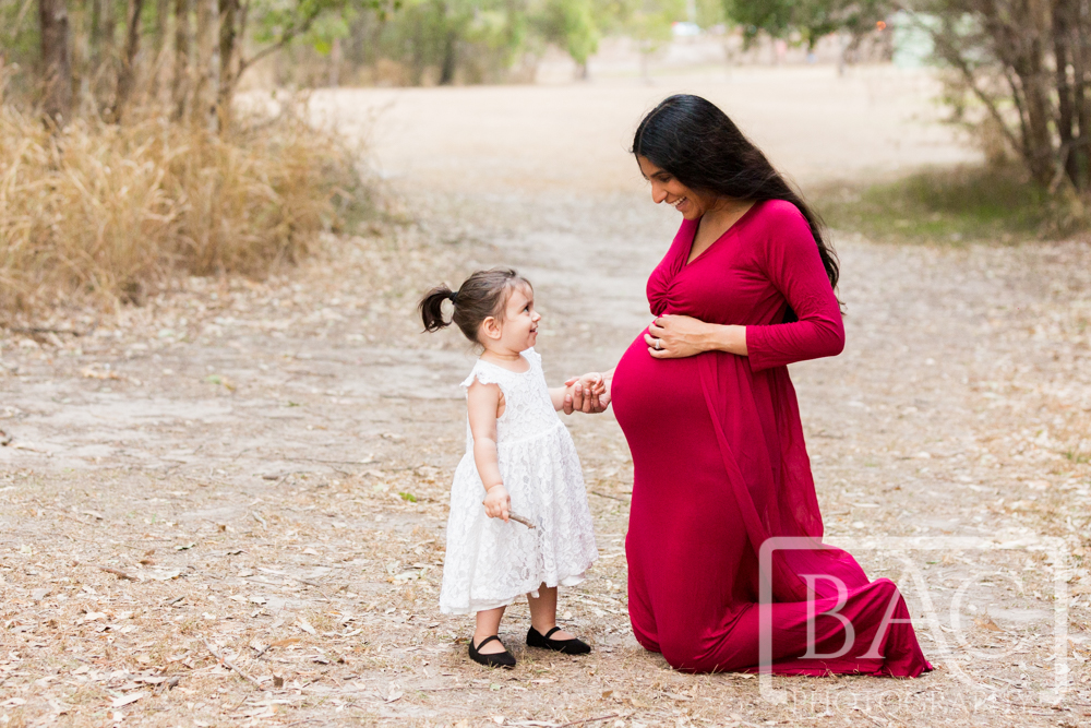 maternity portrait of mum with daughter
