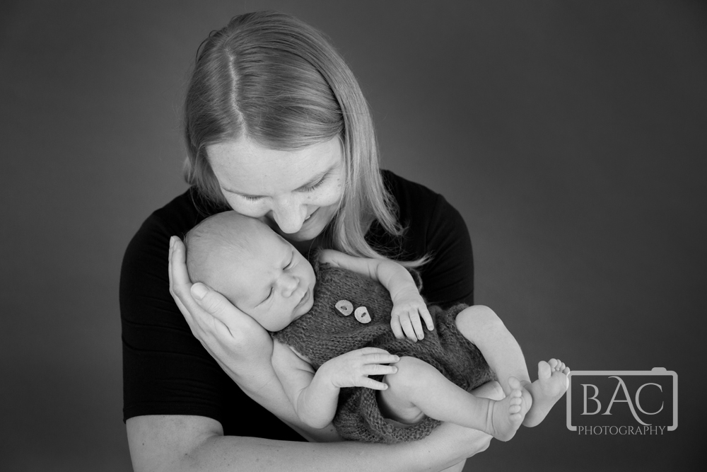 newborn portrait mu with son