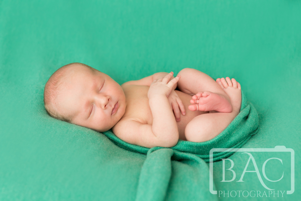 Beautiful newborn baby boy portrait