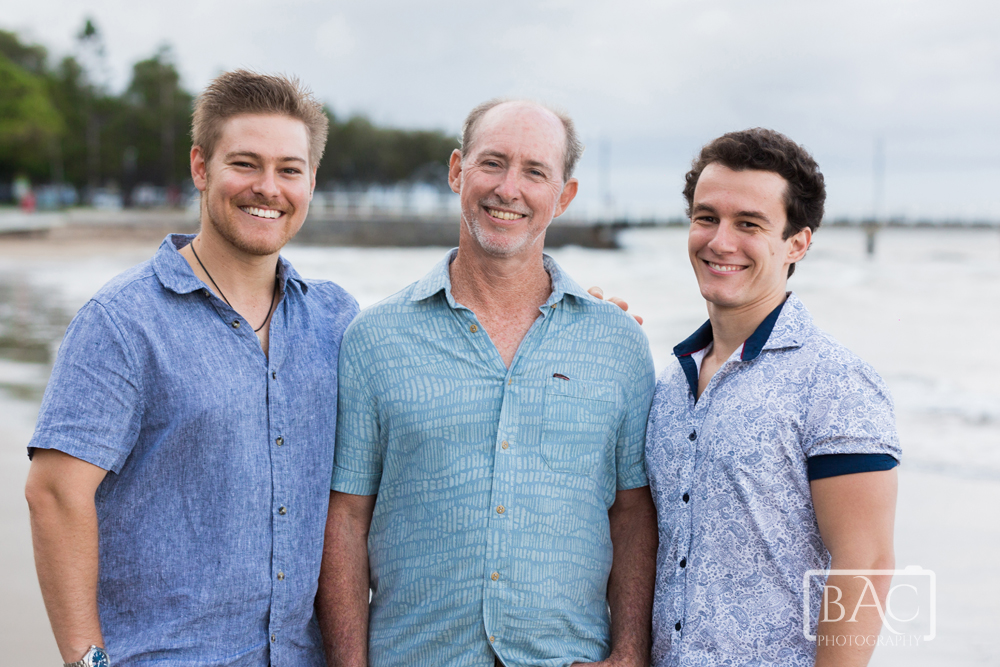 Mens portrait dad with is sons