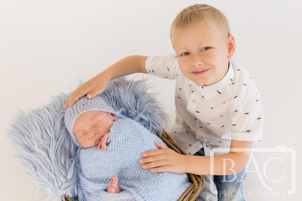 Brothers newborn portrait
