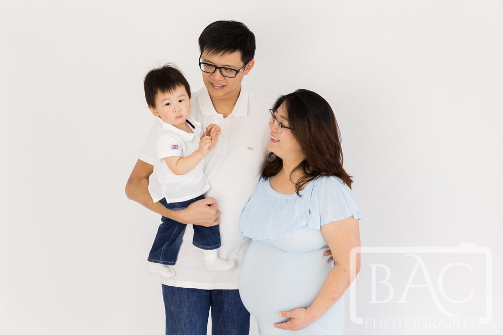 Family studio maternity portrait
