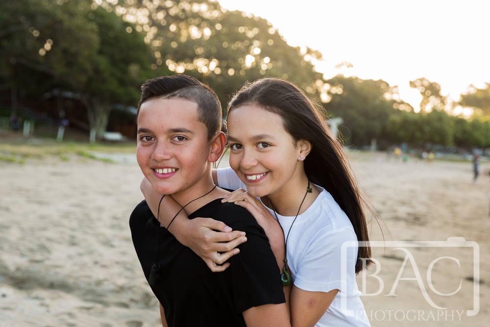 siblings portrait Shorncliffe beach