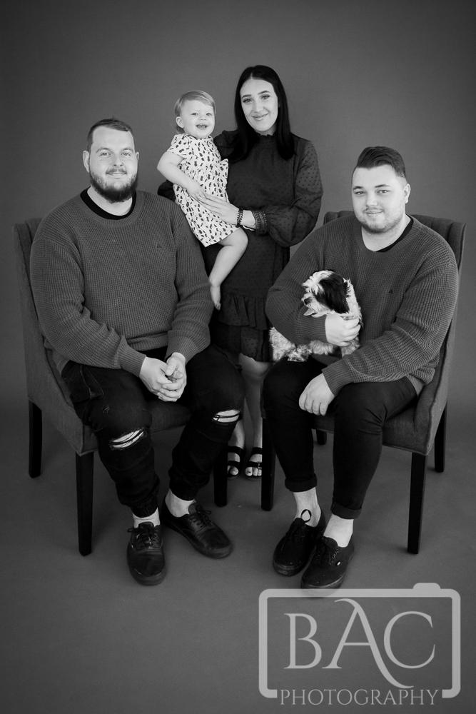 Family portrait in the studio, north lakes