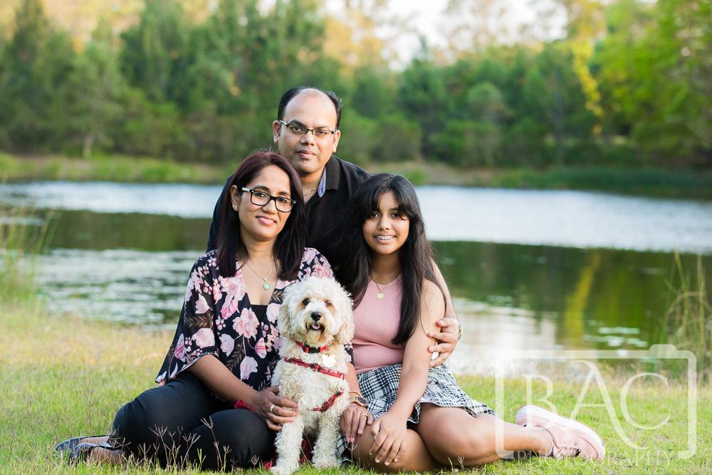 Family portrait with dog Mungarra Reserve
