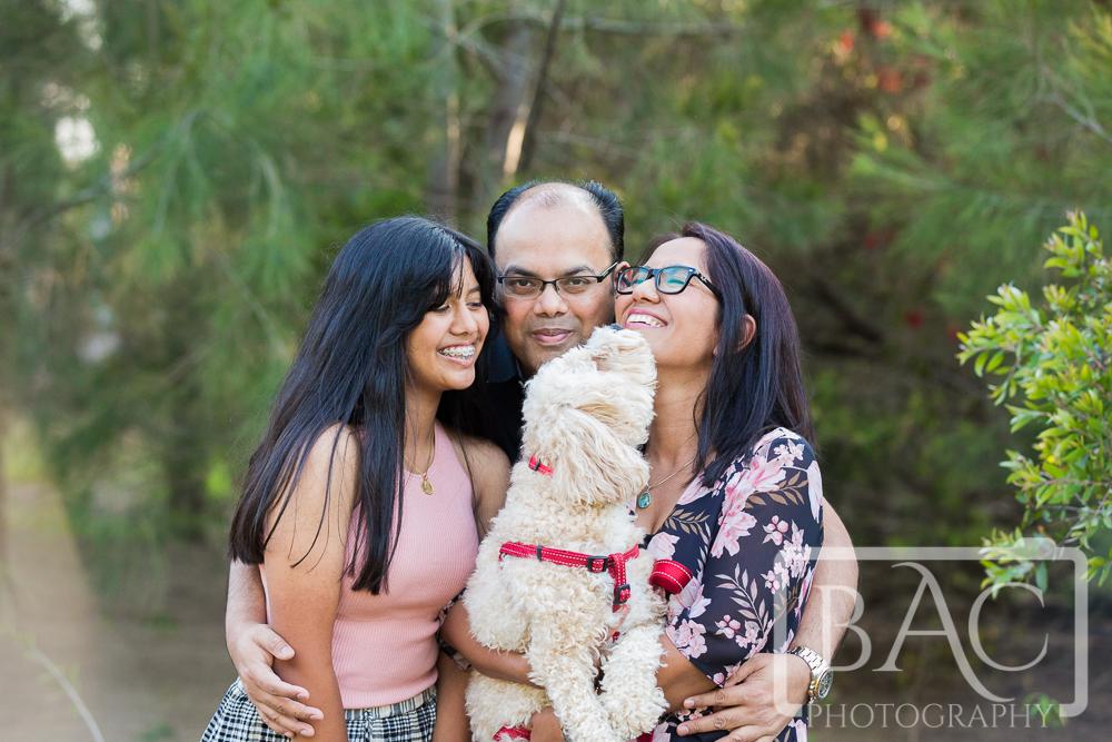 fun family outdoor portrait