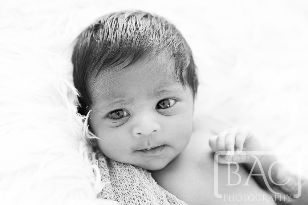 Newborn up close portrait