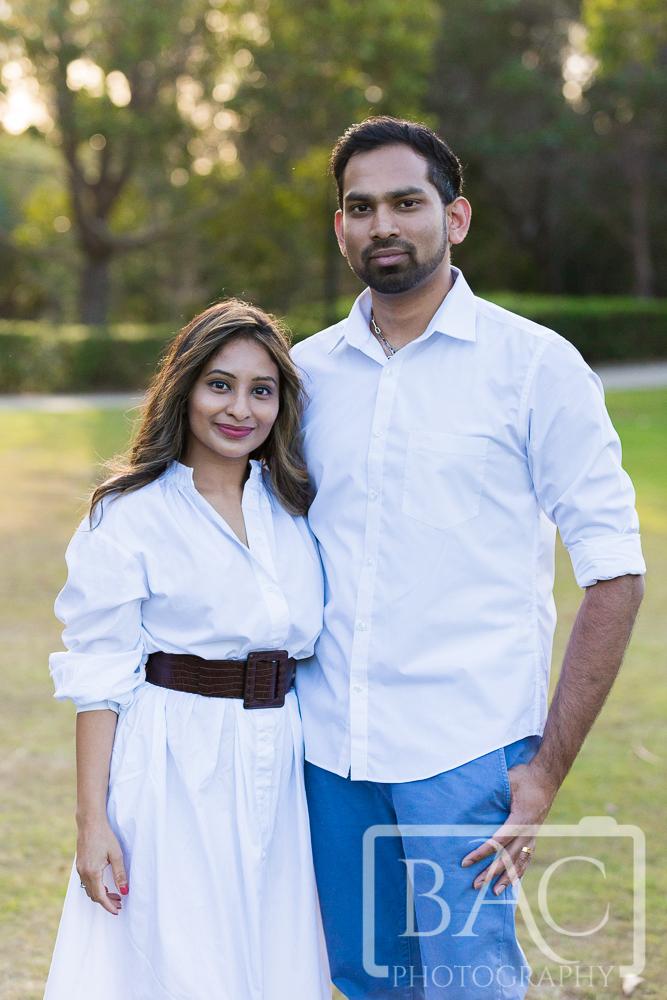 Couples portrait in the park
