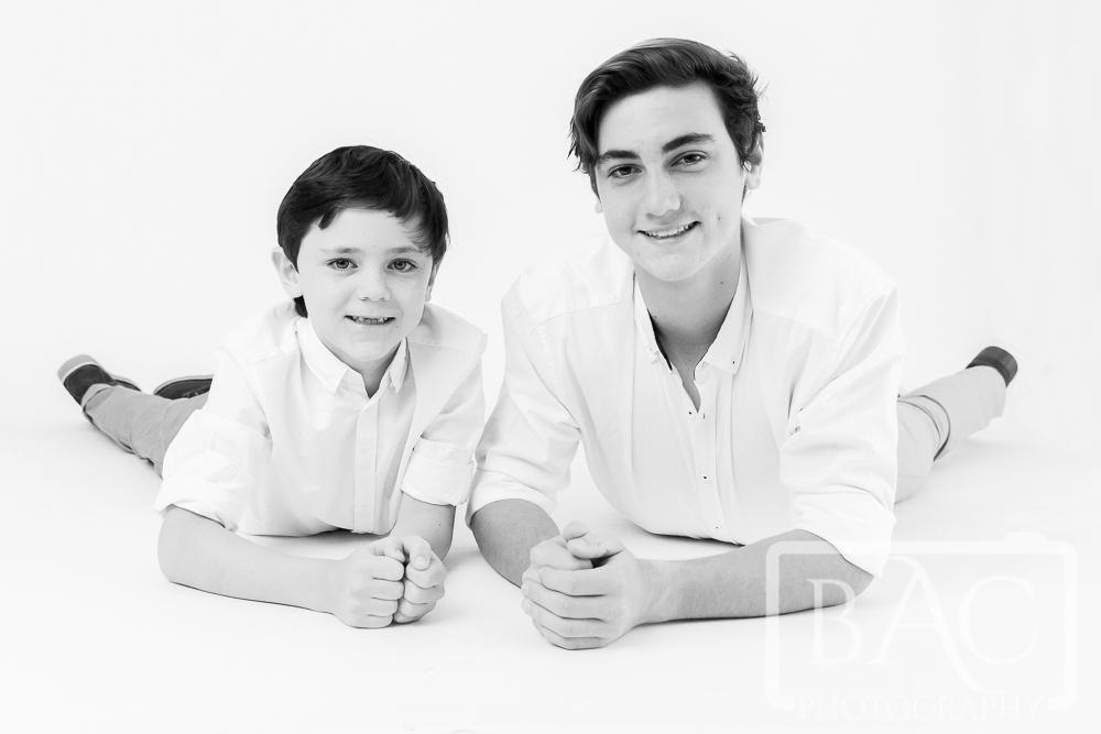 Brothers portrait in studio