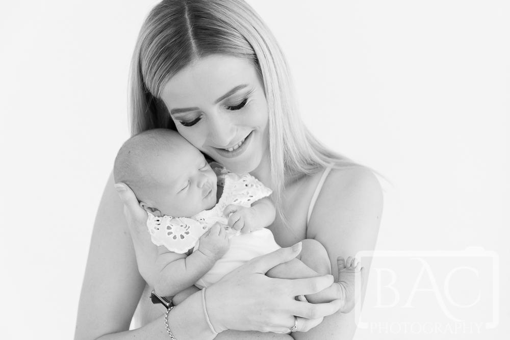 mother and newborn portrait studio