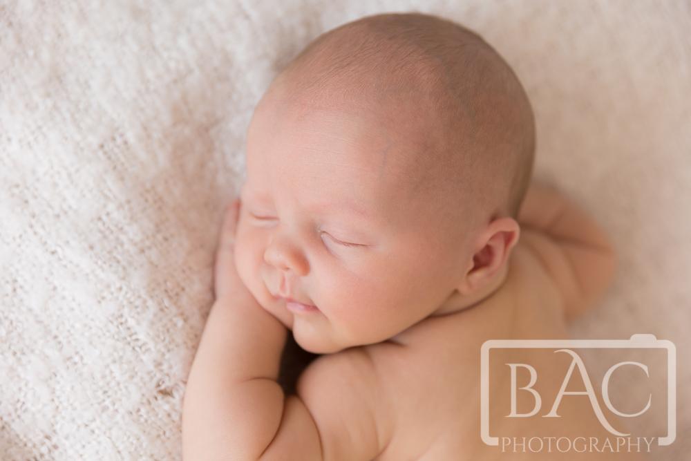 sleeping newborn studio portrait