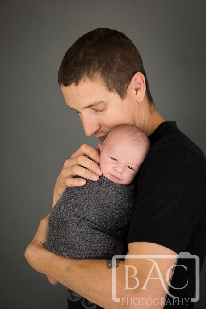 Father and Newborn portrait studio