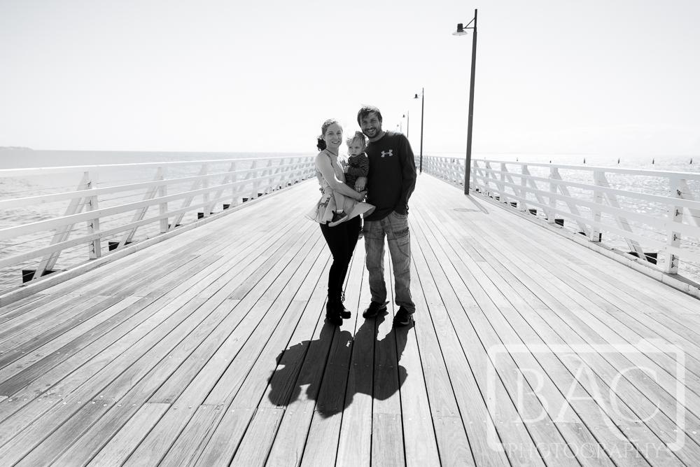 family portrait on pier