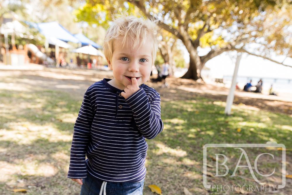 child portrait in park