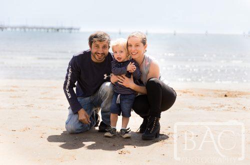 family portrait at pier