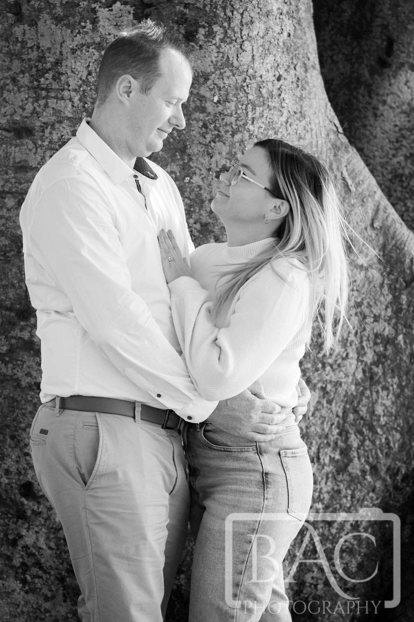 couples romantic outdoor portrait
