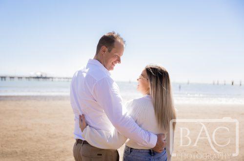couple portrait on waterfront