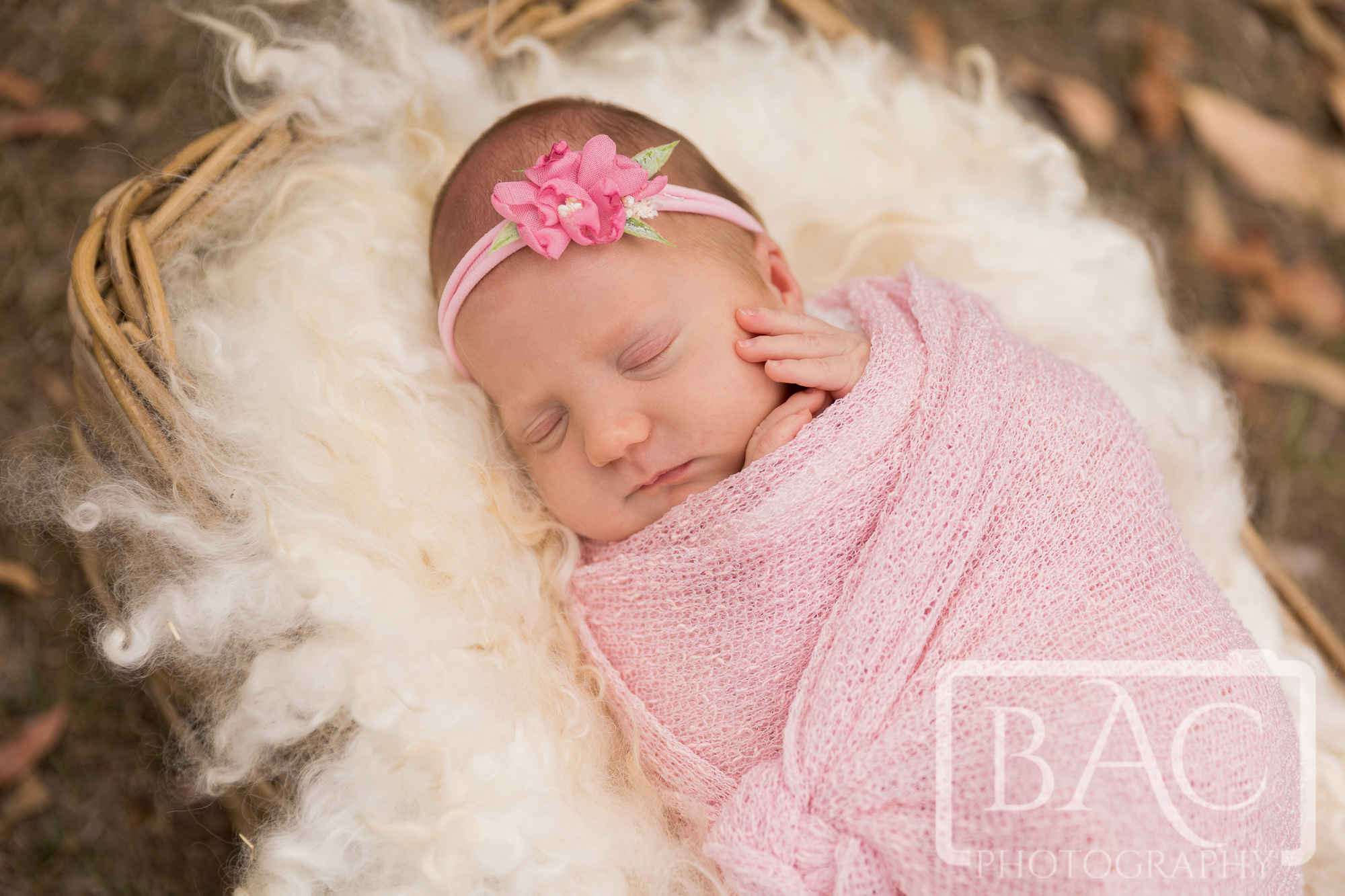 newborn outdoor portrait