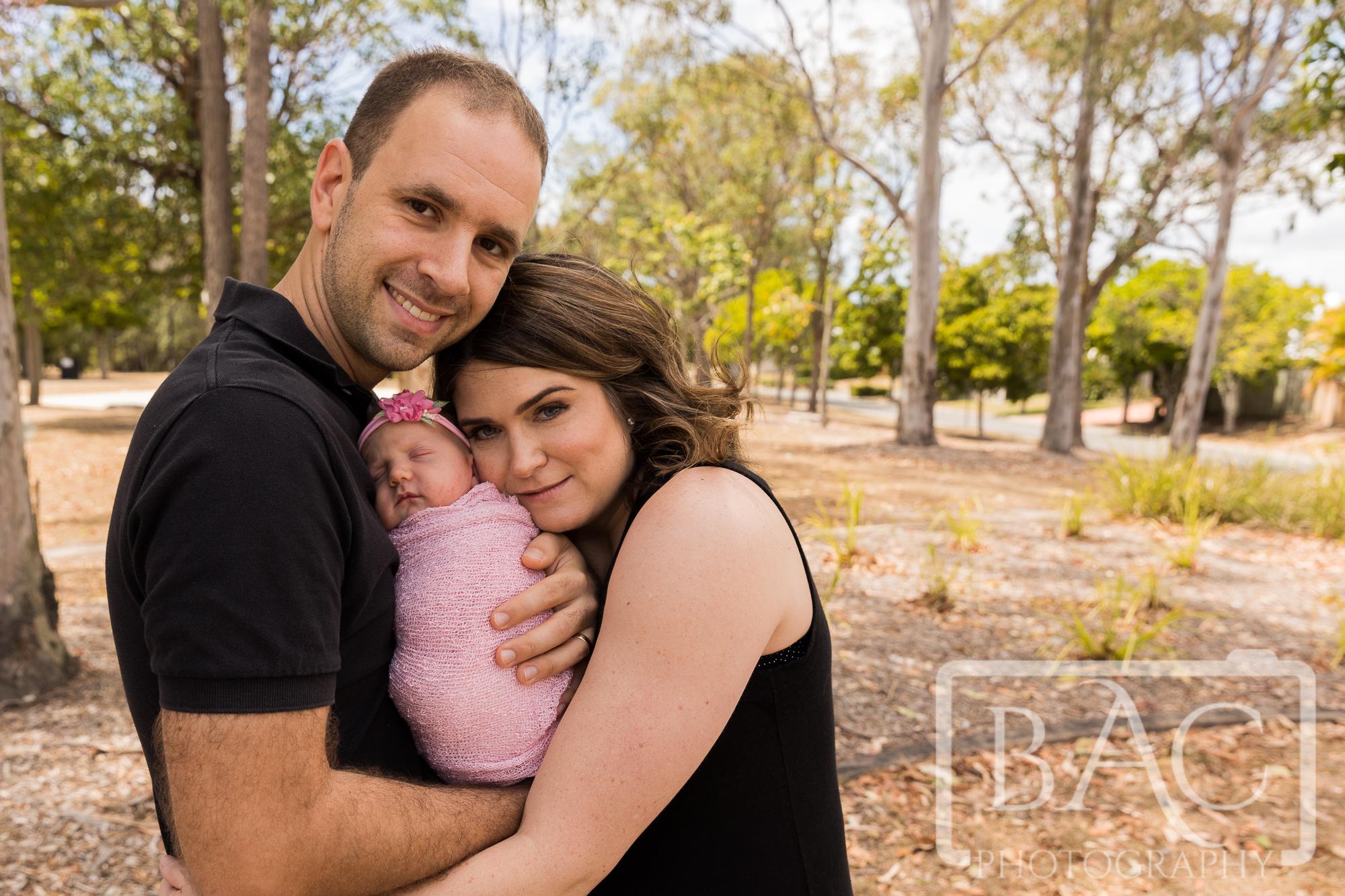 family newborn portrait in park