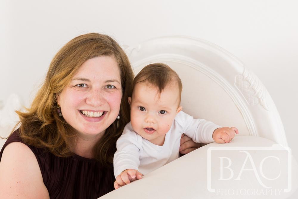 mum and newborn portrait in studio