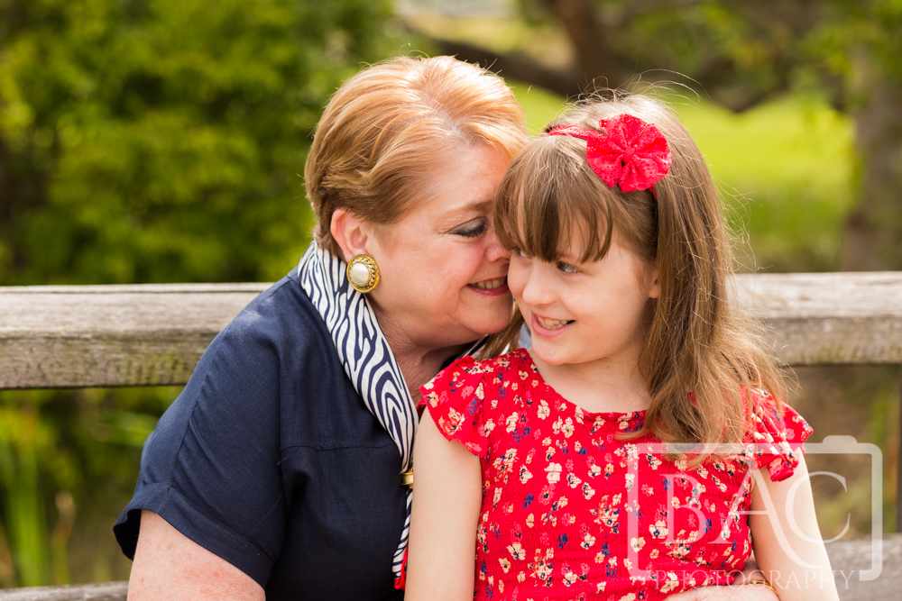 Grandmother and granddaughter portrait