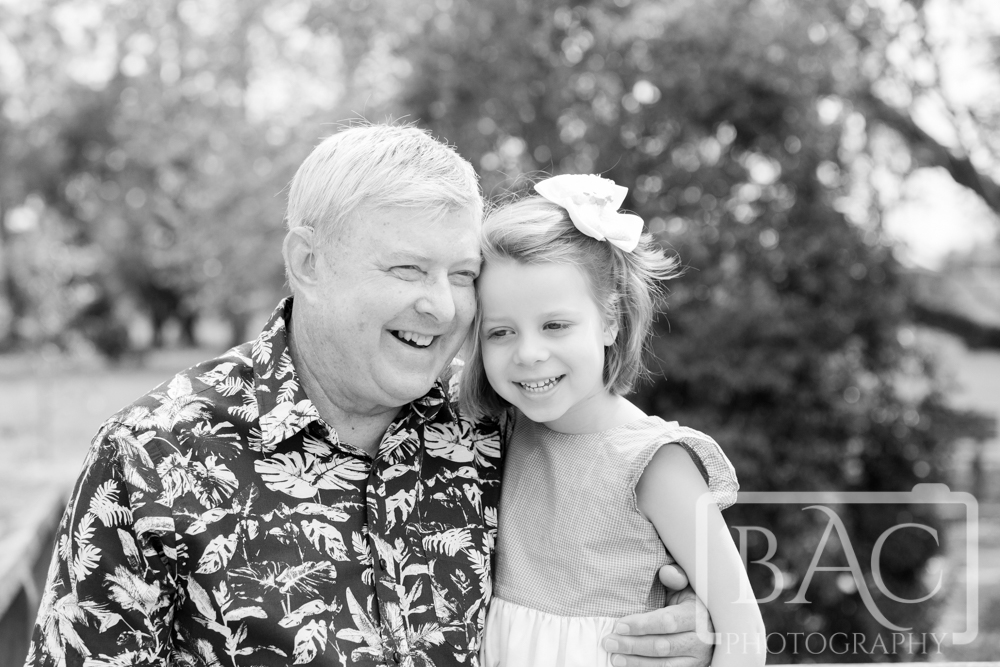 grandfather and granddaughter portrait outdoor