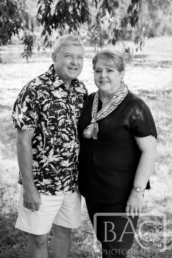 Grandparents portrait black and white