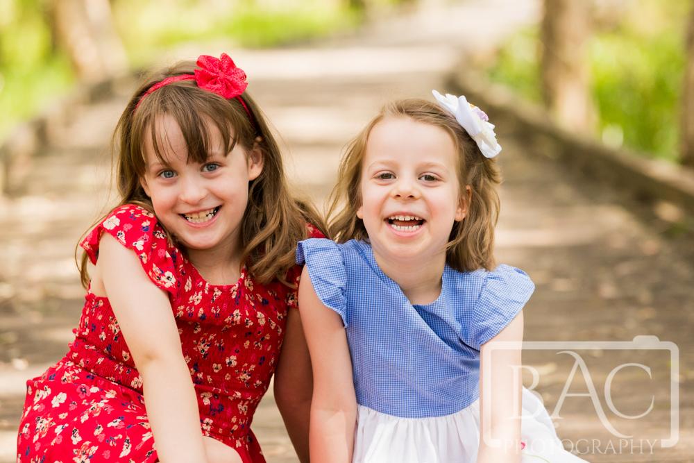 outdoor sibling portrait