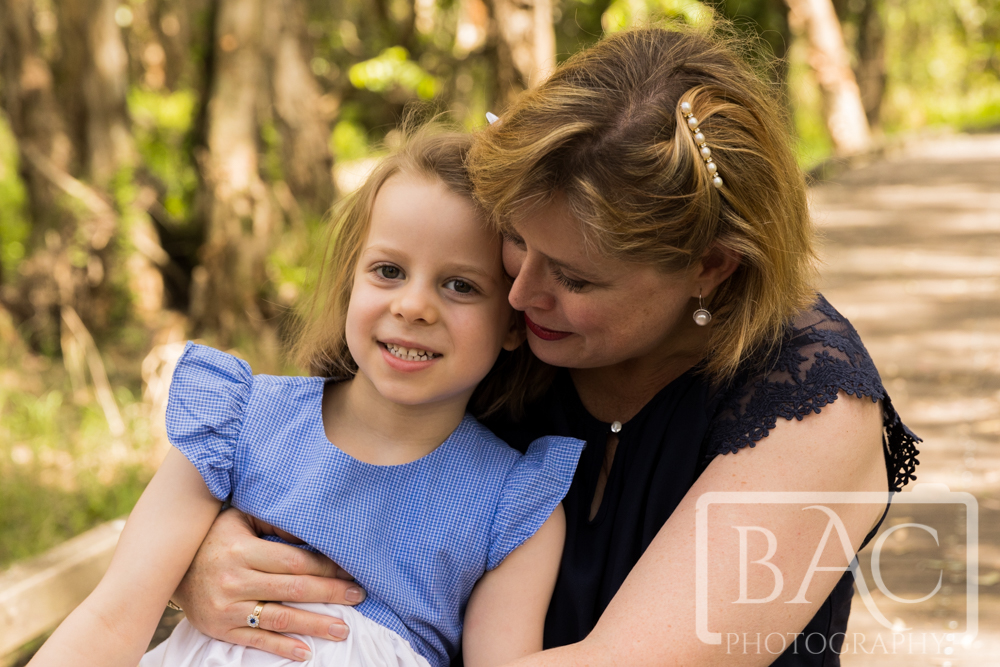 natural mother and daughter portrait